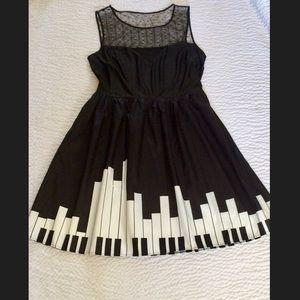 Dresses & Skirts - New Piano Keys Fit Flare Dress 20W Plus